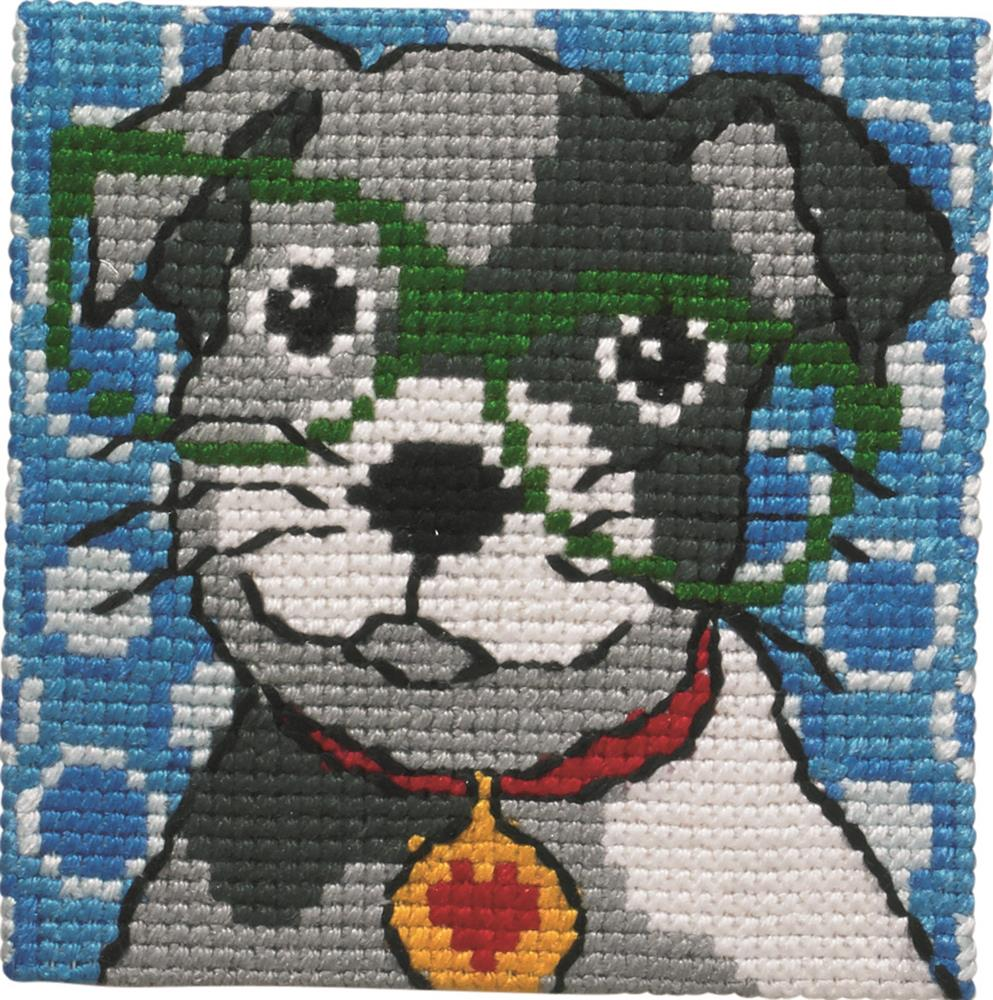 Dog in Glasses -  Cross Stitch Kit
