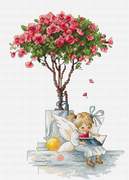 Luca-S The Roses Cross Stitch Kit