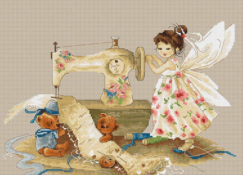 Luca-S Fairy Needlewoman Cross Stitch Kit