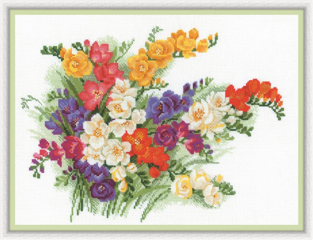 Freesias -  Cross Stitch Kit