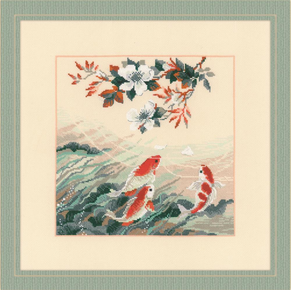 RIOLIS Dancing Fish Cross Stitch Kit