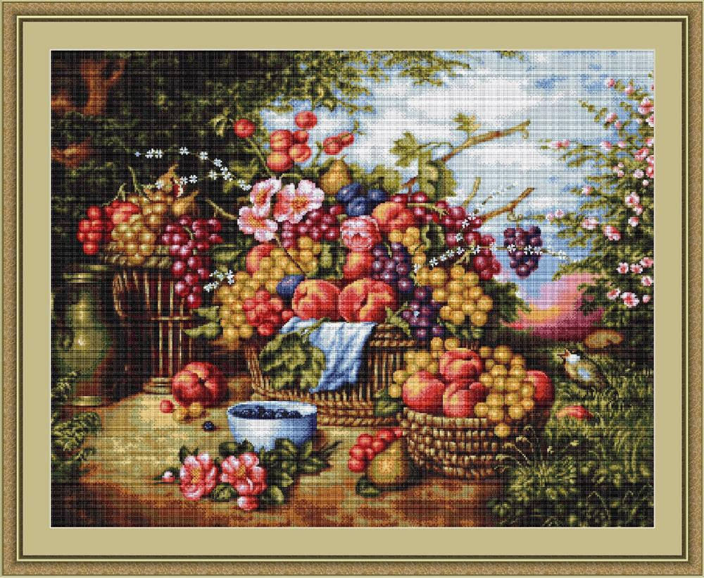 Luca-S Still Life in Nature Cross Stitch Kit