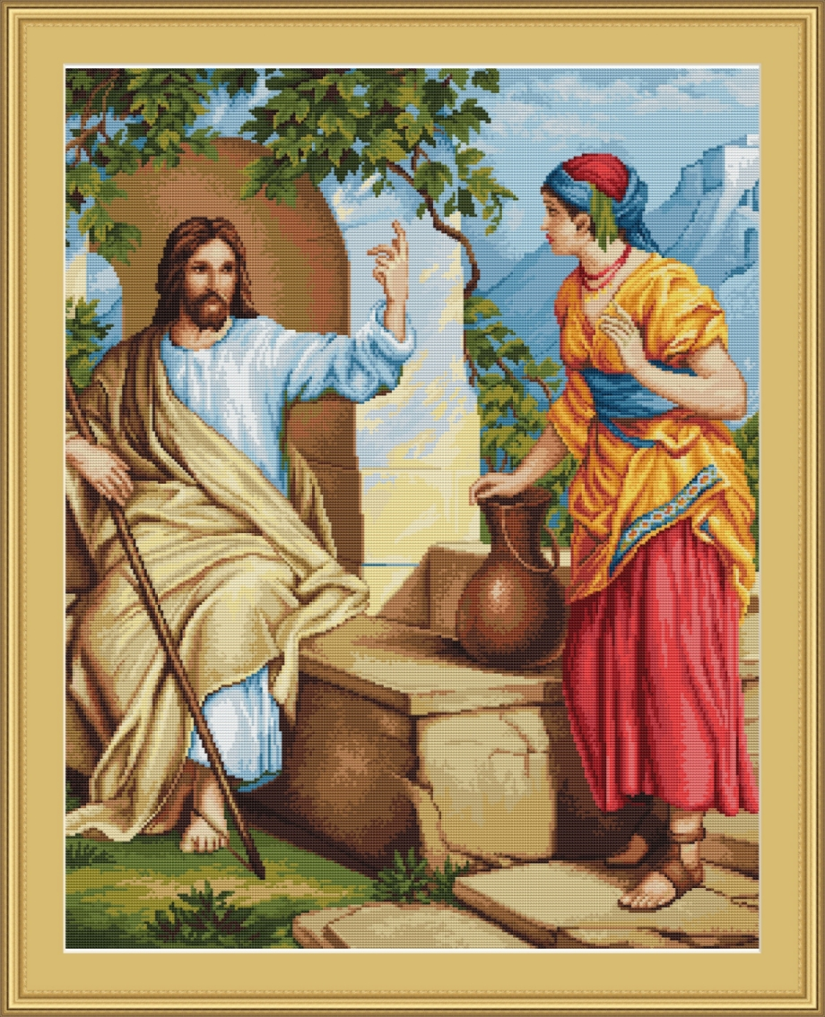 Luca-S Jesus at the Well Cross Stitch Kit