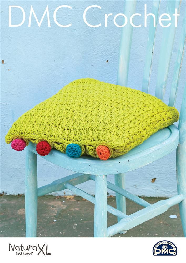 Cushion with Crochet Buttons