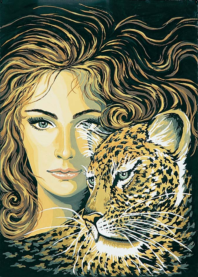 Leopard Maiden -  Tapestry Canvas