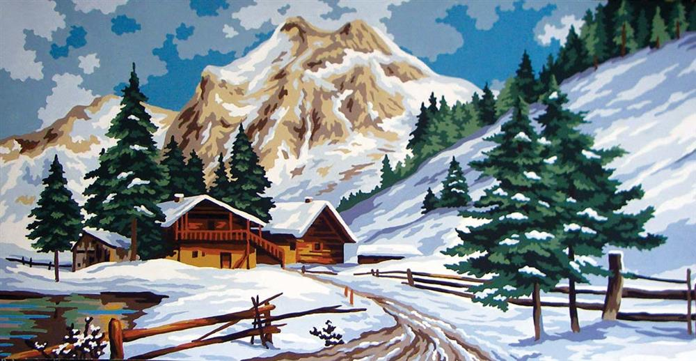 Winter View -  Tapestry Canvas