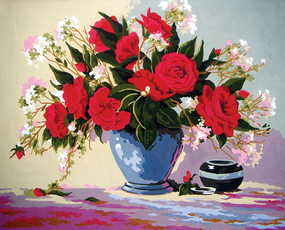 Red Rose Delight -  Tapestry Canvas