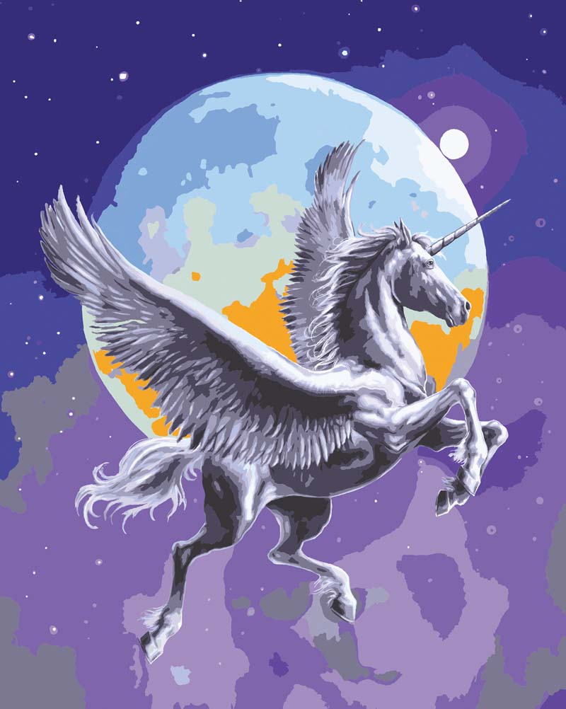 Moonlight Pegasus -  Tapestry Canvas