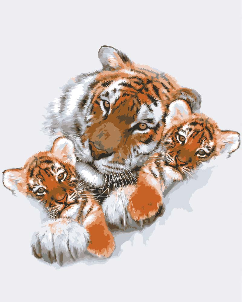 Grafitec Tigress with Cubs Tapestry Canvas