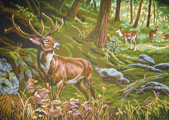 Watchful in the Forest -  Tapestry Canvas