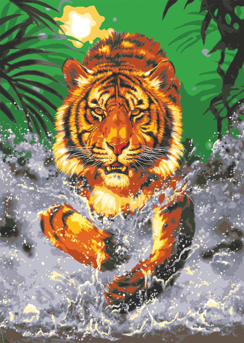 Grafitec Water Tiger Tapestry Canvas