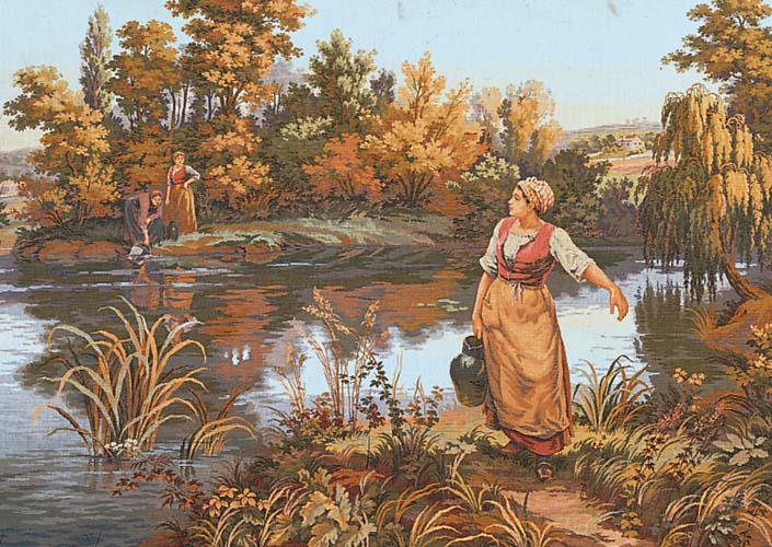 The Water Carrier -  Tapestry Canvas