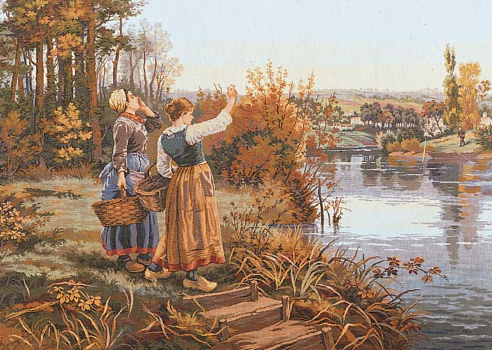 Waiting for the Ferryman -  Tapestry Canvas