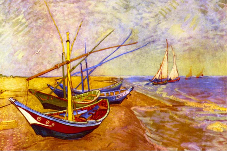 Boats at Sainte-Maries -  Tapestry Canvas