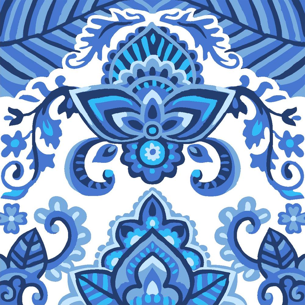 Grafitec China Blue Tapestry Canvas