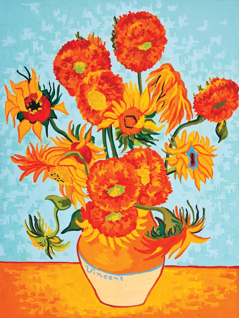 Sunflowers - Van Gogh -  Tapestry Canvas