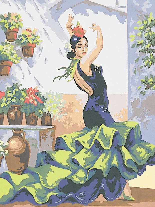Grafitec Flamenco Dancer Tapestry Canvas