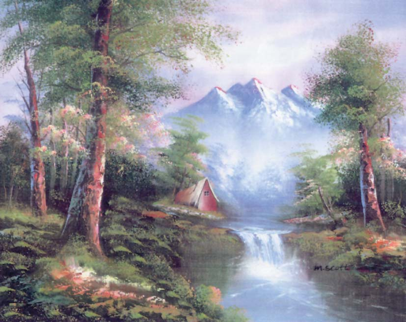 Grafitec Mountain Cascades Tapestry Canvas