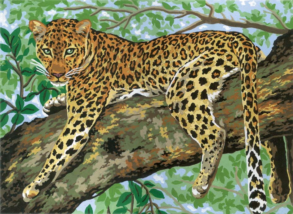 Lazing Leopard -  Tapestry Canvas
