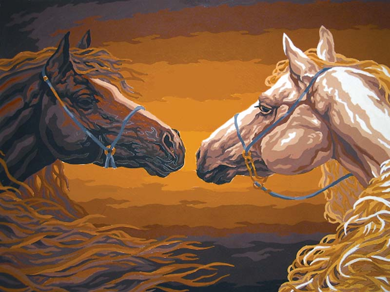 Stable Mates -  Tapestry Canvas