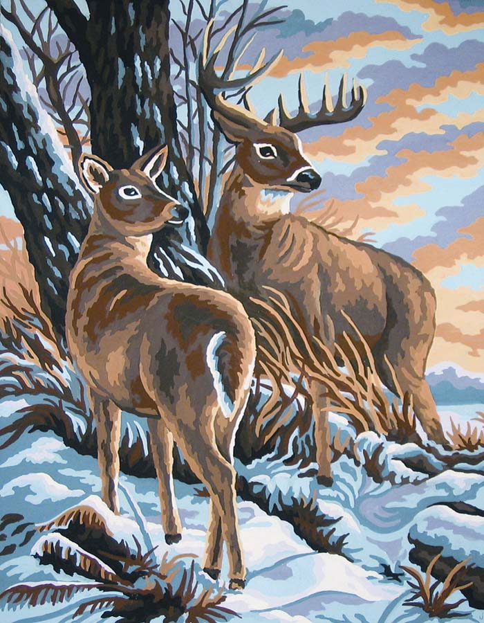 Grafitec Stag and Doe Tapestry Canvas