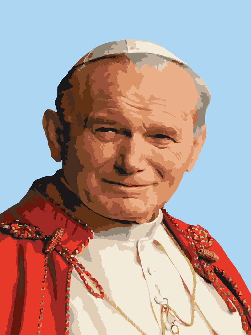 Pope John Paul -  Tapestry Canvas