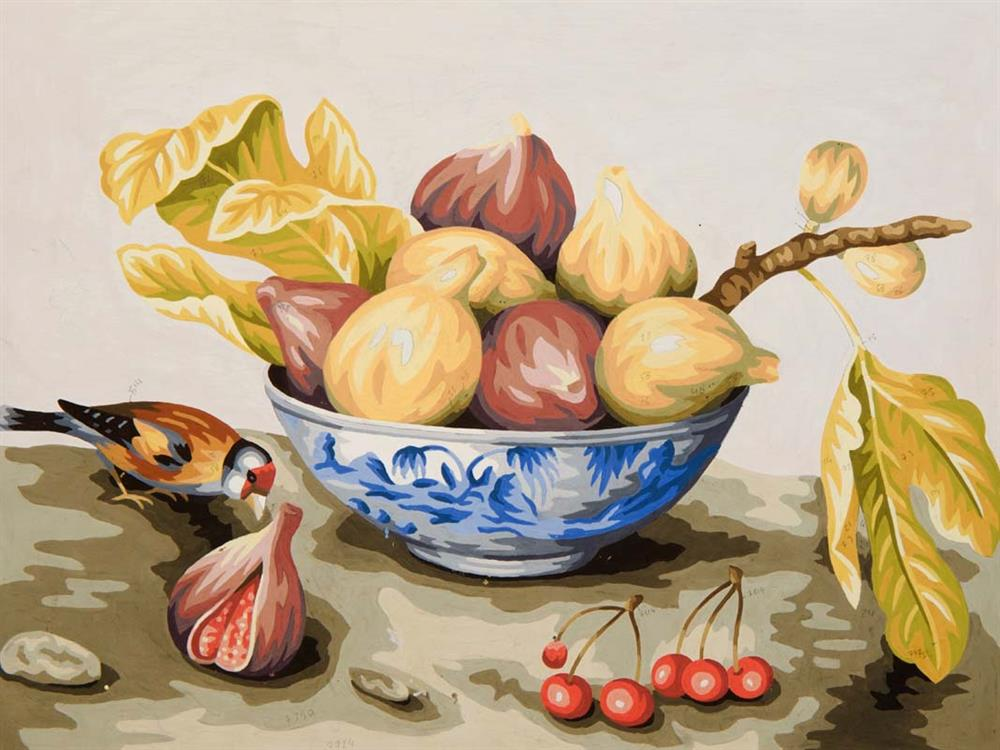 Bowl of Figs -  Tapestry Canvas