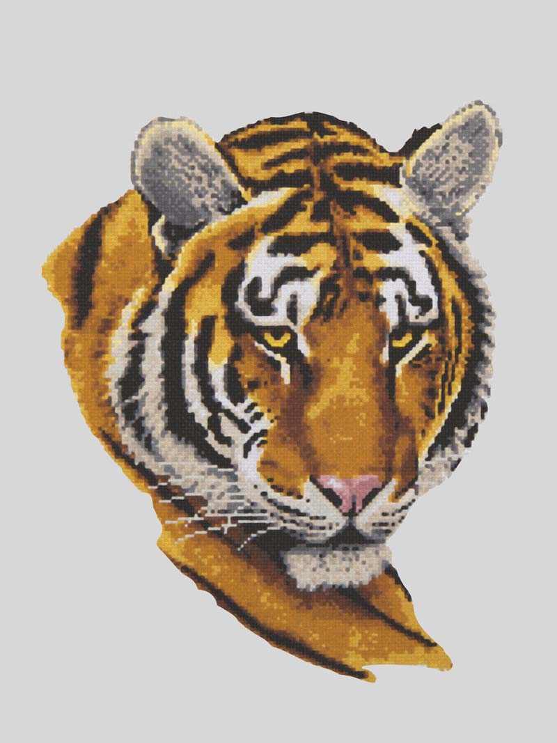 Tiger Portrait -  Tapestry Canvas