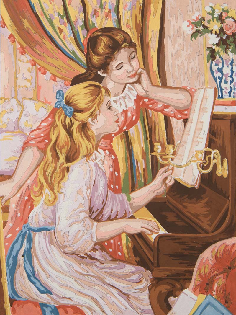 Girl at the Piano -  Tapestry Canvas