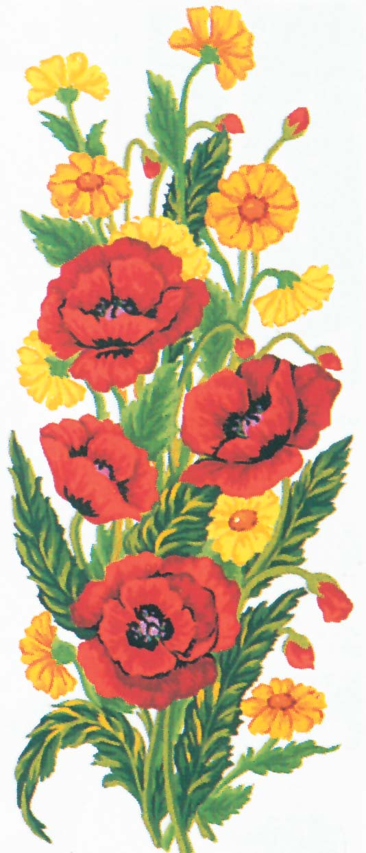 Poppies -  Tapestry Canvas