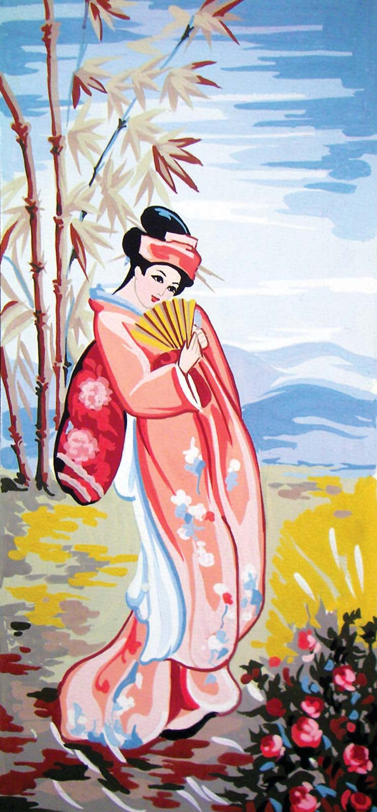 Grafitec Rose Geisha Tapestry Canvas