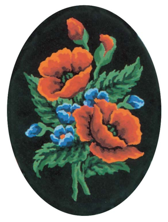 Poppies and Cornflowers -  Tapestry Canvas