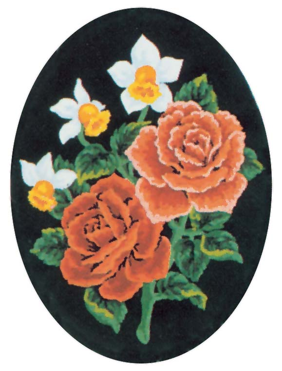 Daffodils and Roses -  Tapestry Canvas
