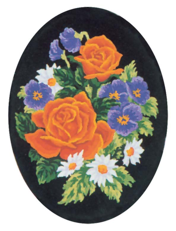 Pansies and Roses -  Tapestry Canvas