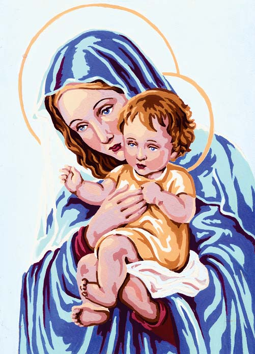 Madonna and Child -  Tapestry Canvas