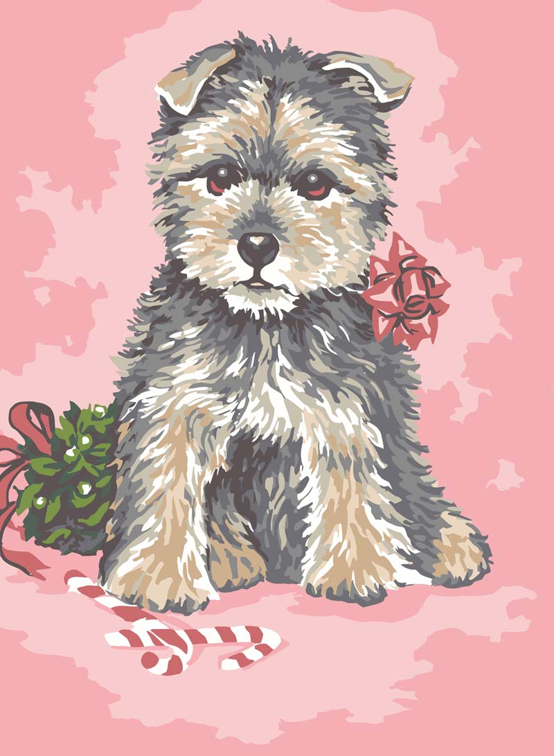 Dressed up Pup -  Tapestry Canvas