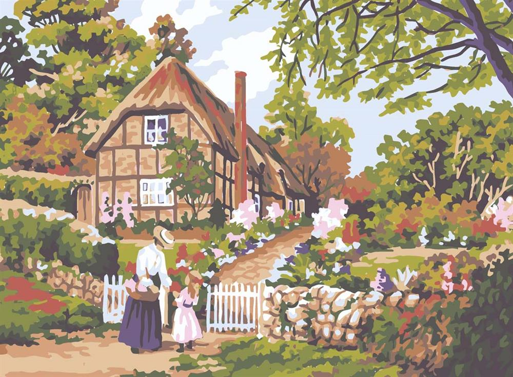 Cottage Gate -  Tapestry Canvas