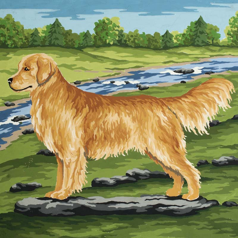 Golden Retriever -  Tapestry Canvas