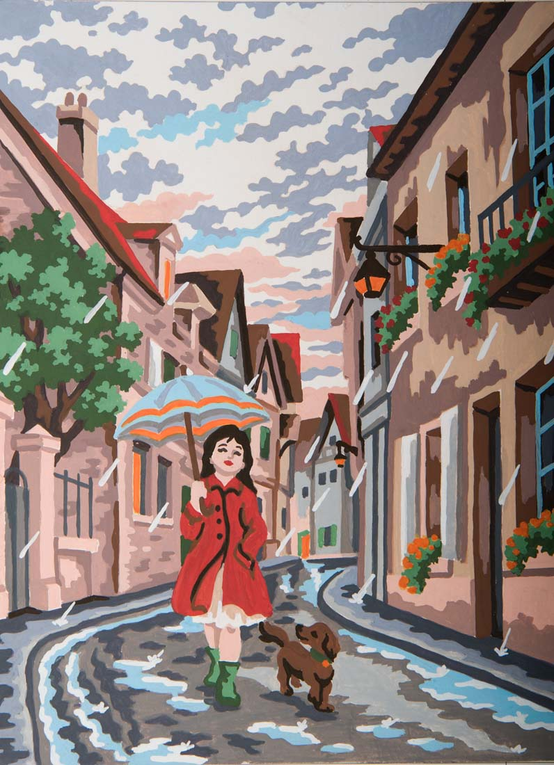 Grafitec Singing in the Rain Tapestry Canvas