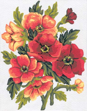 Summer Florals -  Tapestry Canvas
