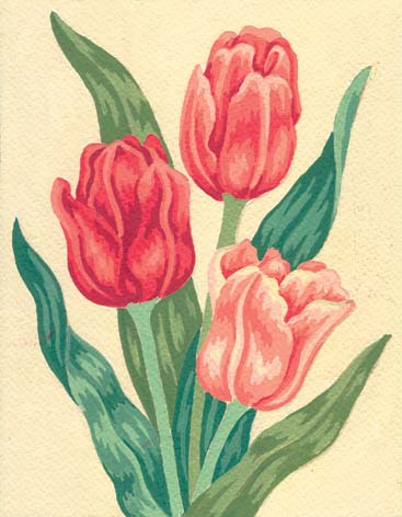 Tulips -  Tapestry Canvas