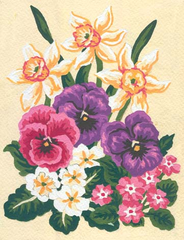 Spring Florals -  Tapestry Canvas