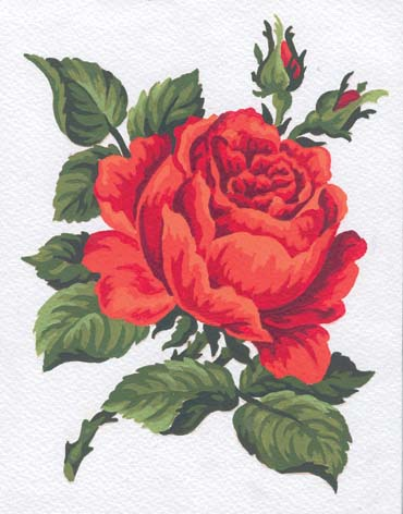 Red Rose -  Tapestry Canvas