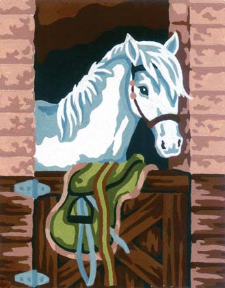 Stable Horse -  Tapestry Canvas