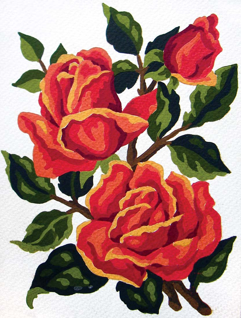 Red Roses -  Tapestry Canvas
