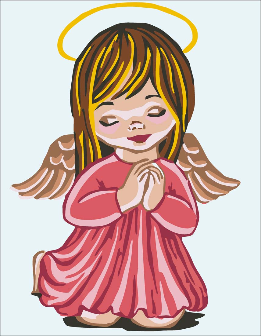 Angel Girl Prayer -  Tapestry Canvas