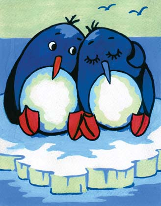 Penguin Pair -  Tapestry Canvas