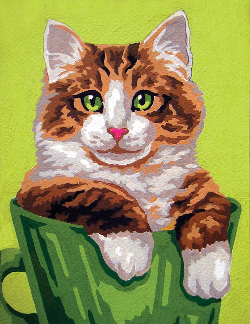 Kitten in a Cup -  Tapestry Canvas