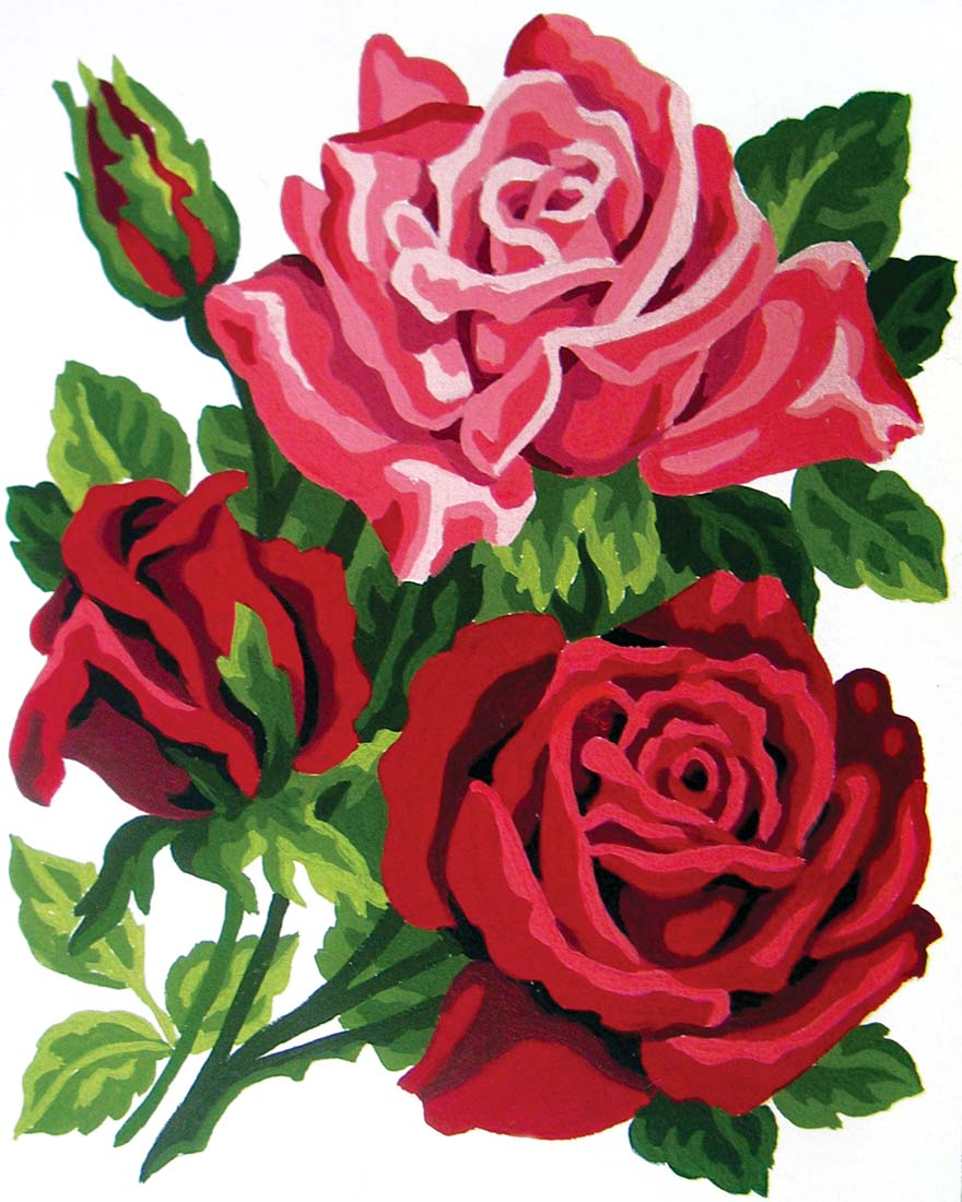 Rose Posy -  Tapestry Canvas
