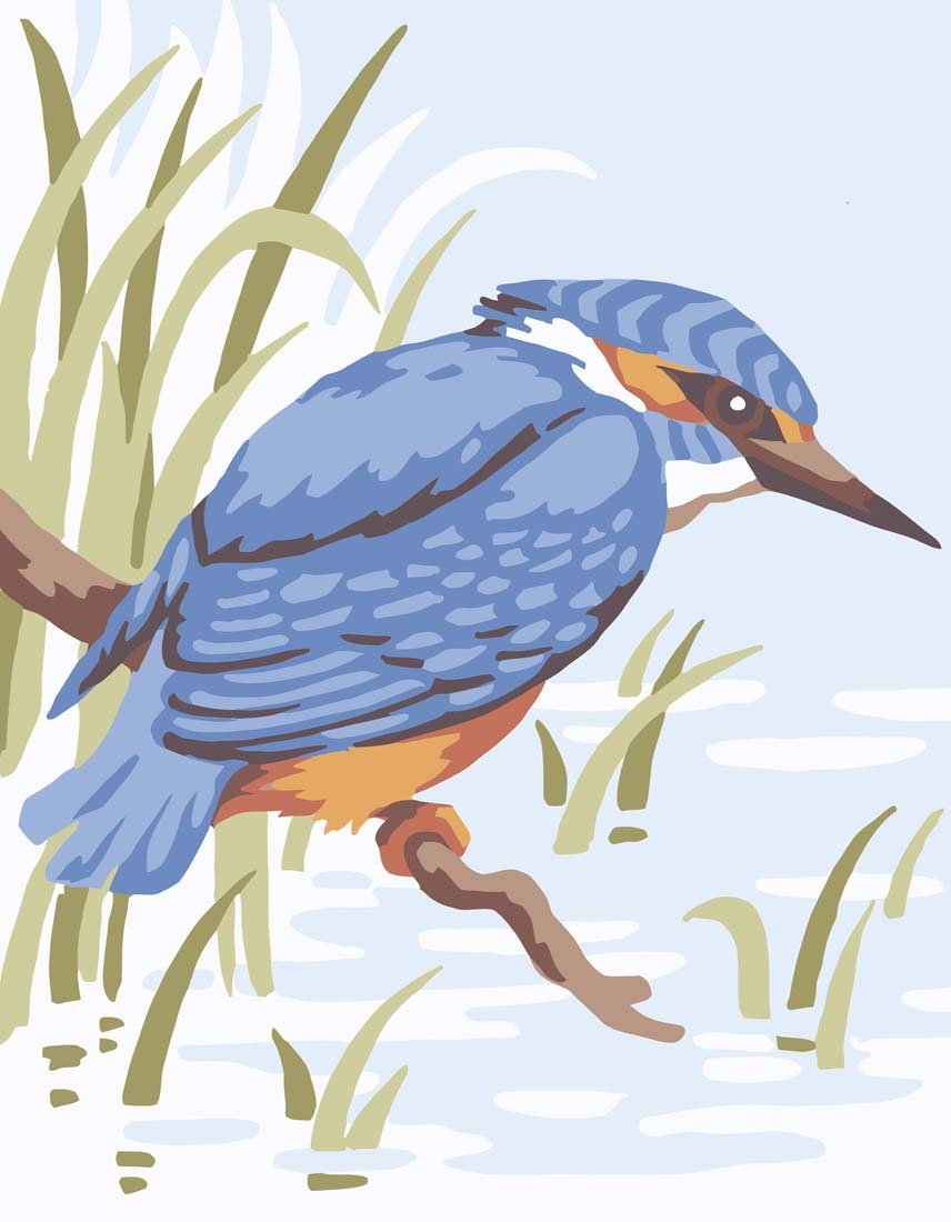 Grafitec Kingfisher Tapestry Canvas